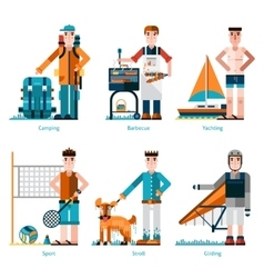 Summer rest icons vector