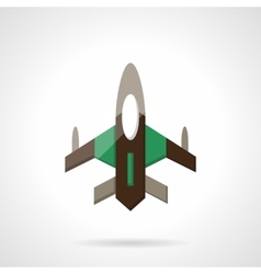 Fighter flat color design icon vector