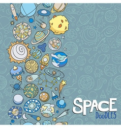Space objects doodles vector