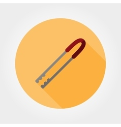 Kitchen tongs icon vector