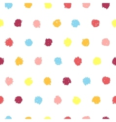 Polka dot seamless pattern vector