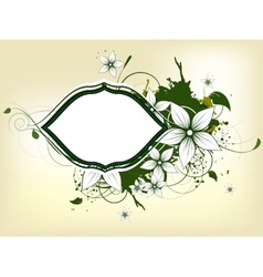 Abstract floral spring background with frame vector image vector image