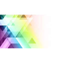 Abstract geometric colorful banner vector