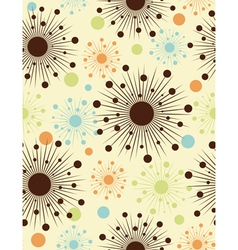 Abstract retro dots - seamless pattern vector image vector image