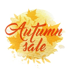 Abstract yellow autumn background vector