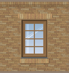 arched old window vector image vector image