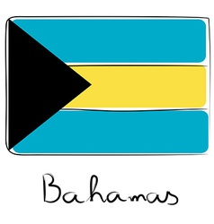 Bahamas flag doodle vector image vector image