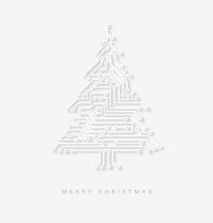 Christmas tree as digital electronic circuit vector