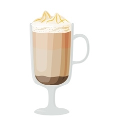 Coffee cups different cafe drinks mocha frappe vector