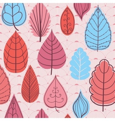 Colored pattern on leaves theme Autumn pattern vector image vector image