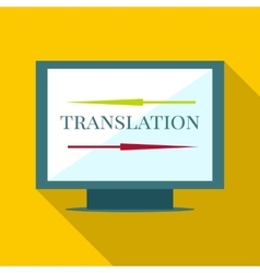 Computer translation icon flat style vector