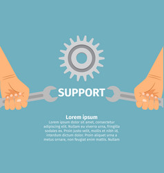 concept of technical support vector image