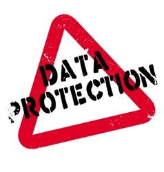 Data protection rubber stamp vector