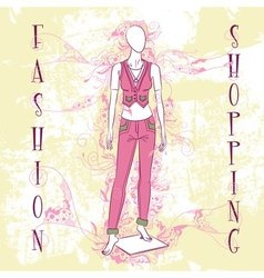 Decorative fashion mannequin for sale vector