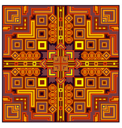 Ethnic colorful abstract design decorative vector