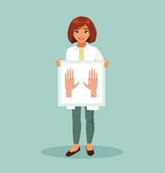 Female dermatologist vector