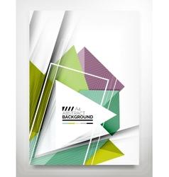 Flyer brochure design template vector
