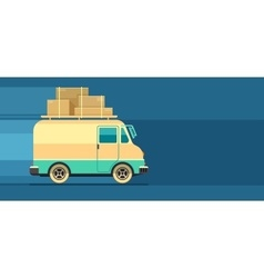 Freight cargo delivery vector image vector image
