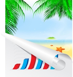 Graph summer background vector image