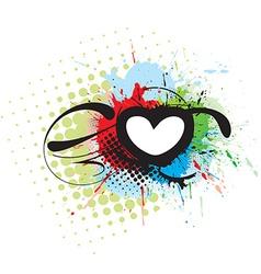 Grunge heart background vector