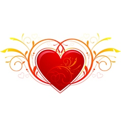 Heart Valentines Day decorations vector image vector image