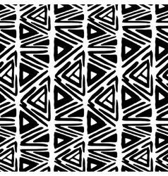 Rhombus simple seamless pattern hand drawn vector image vector image