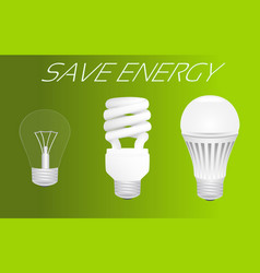 save energy concept vector image vector image