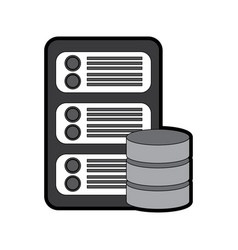 server with database web hosting icon image vector image