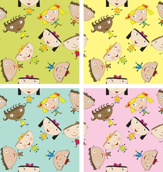 Set of children patterns vector image vector image