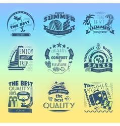 Summer holiday vacation labels set vector image vector image