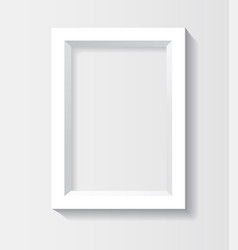 white rectangular 3d photo frame with shadow vector image vector image