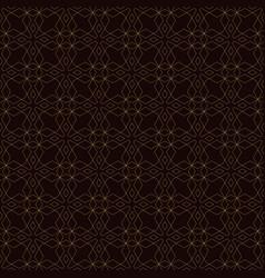 Seamless pattern golden decorative design vector