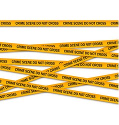 Crime scene do not cross yellow police tape vector