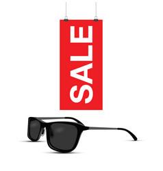 Sunglasses sale sign vector