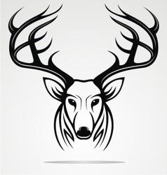 Deer Head Tribal vector image