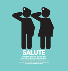 Man and woman gave the salute gesture vector