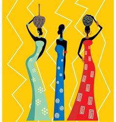 Beautiful african women vector image