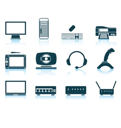 Set of hardware icons vector