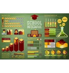 Set of school infographic elements with icons vector