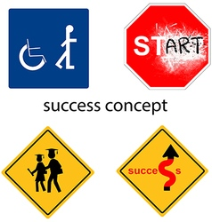 Creative design success concept vector