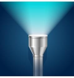 Pocket torch light flashlight vector