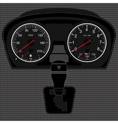 Speedometer and gear box vector