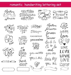 Valentines daylove letteringlabelsblack vector