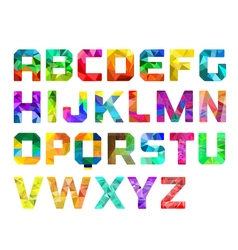 Colorful alphabet logo vector