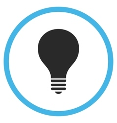 Bulb flat rounded icon vector