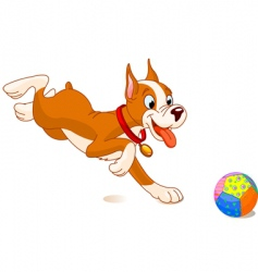playful dog vector image