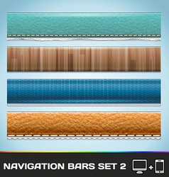 Navigation Bars For Web And Mobile Set2 vector image