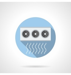 Air conditioner compressor round flat icon vector
