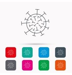 Virus icon molecular cell sign vector