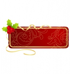 Christmas tablet vector image vector image